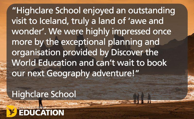 testimonial iceland highclare school