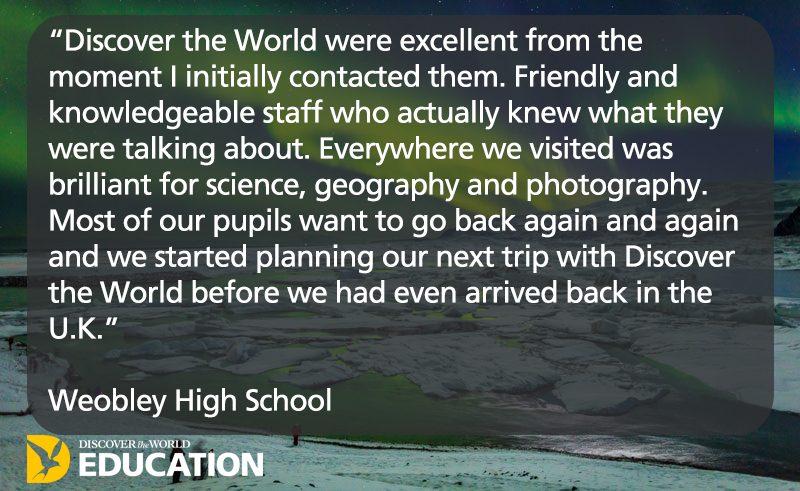 testimonial iceland weobley high school