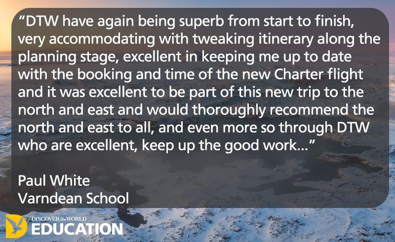 testimonial north and east iceland varndean school