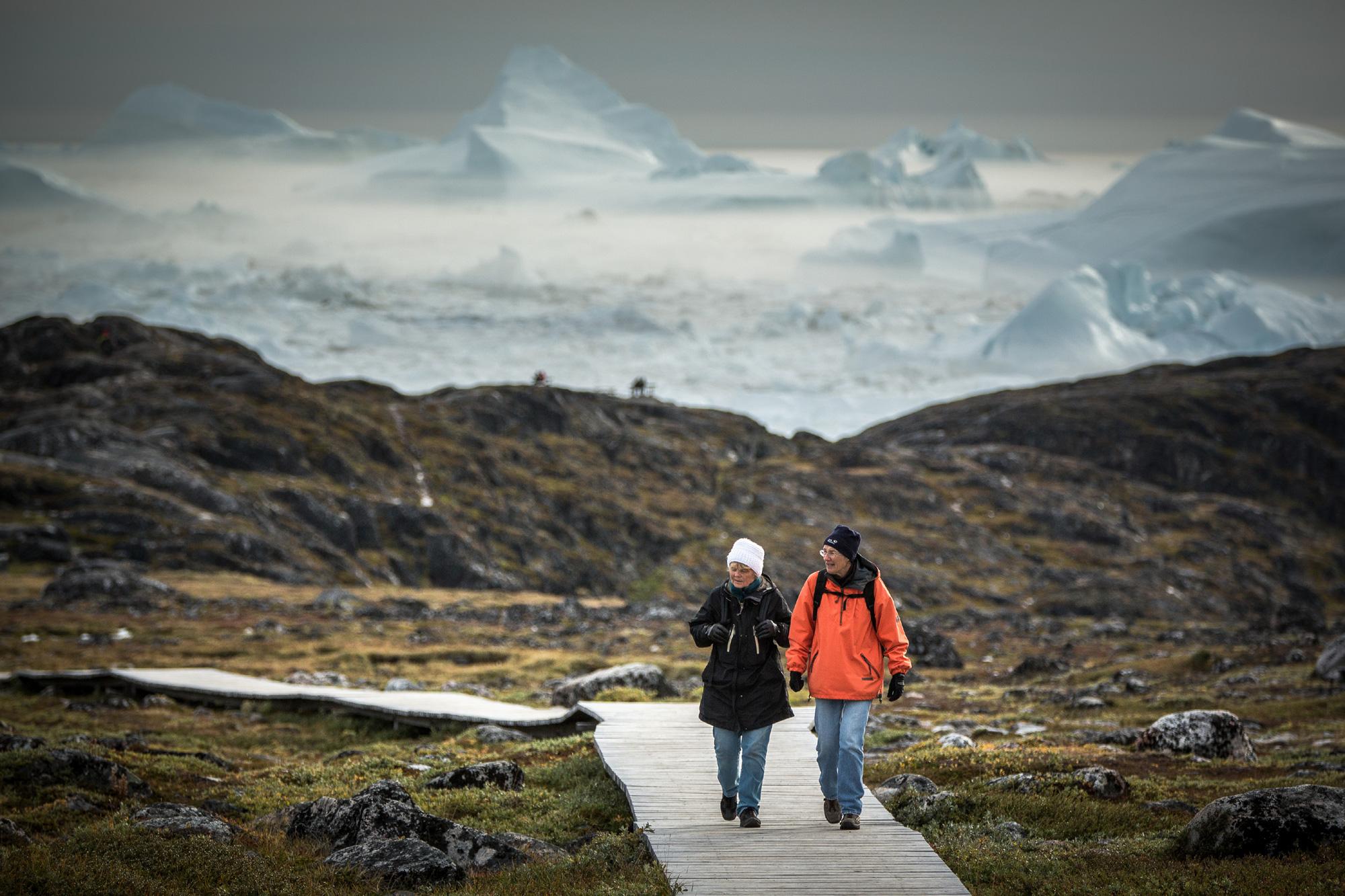 west greenland boardwalk near sermermiut vg
