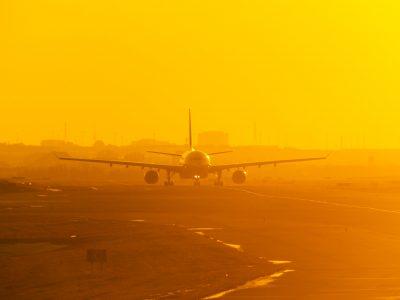 canada ontario sunset plane toronto pearson airport istk