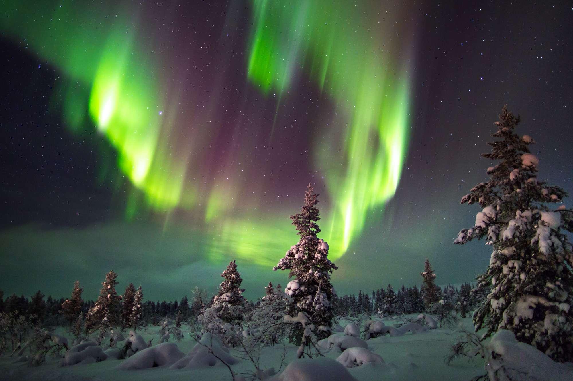 finnish lapland inari wilderness aurora istk