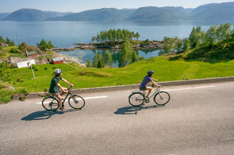norway fjords sognefjord cycling at lavik hl