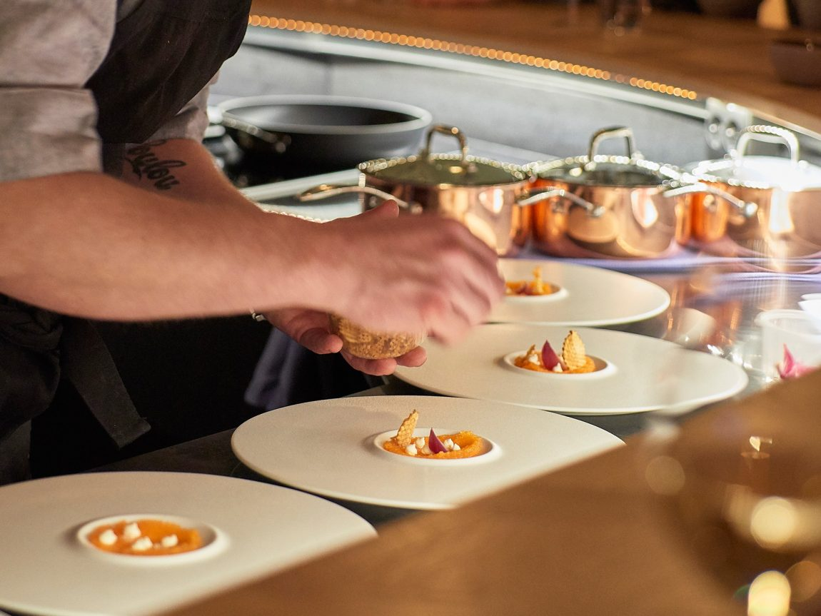 swedish lapland icehotel plating up chefs table veranda restaurant