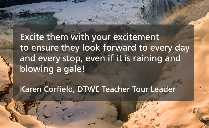 tour leader tips quote karen corfield