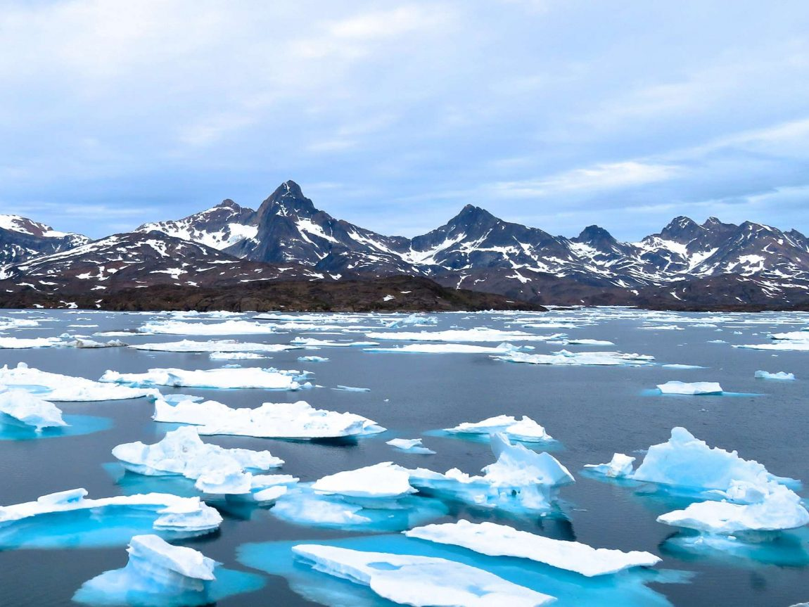 east greenland icebergs in tasiilaq fjord ch