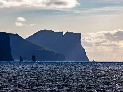 faroe islands eysturoy risin and killingin rocks and coastline towards streymoy istk