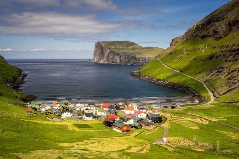 faroe islands streymoy tjornuvik village istk