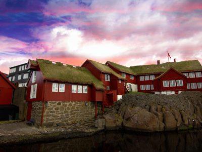faroe islands torshavn tinganes old parliament buildings istk