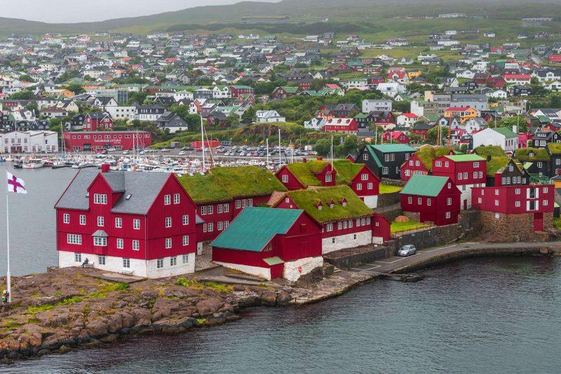 faroe islands torshavn view istk
