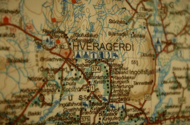 iceland hveragerdi map