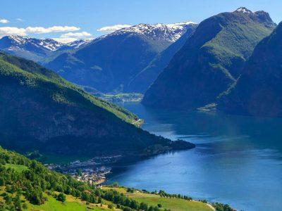 norway fjords flam summer view aurlandsfjord vflm ja