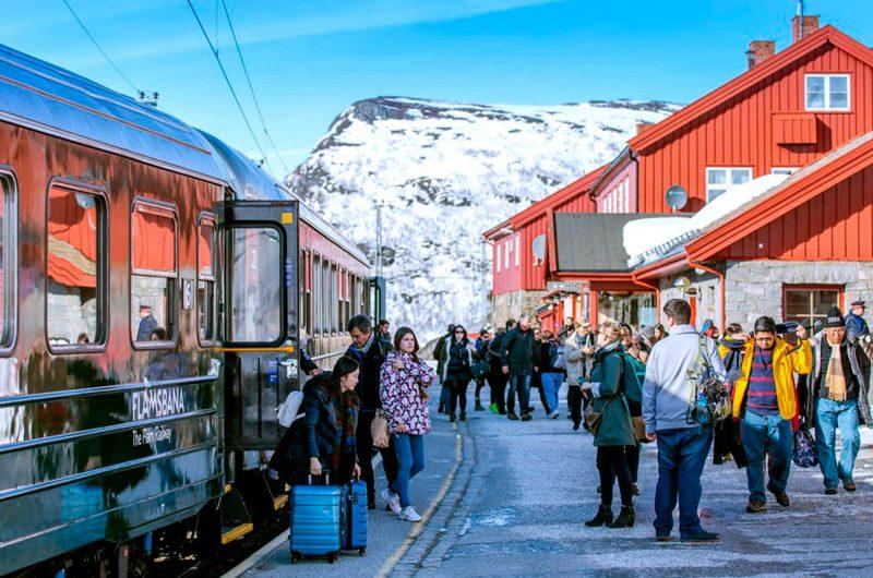 norway fjords flam winter platform vflm pe