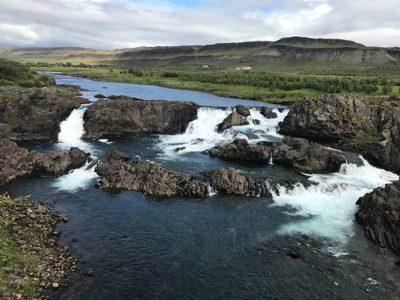 glanni waterfall west iceland