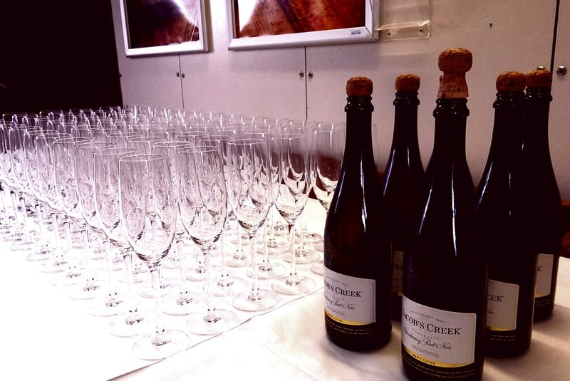 iceland reykjavik new year champagne