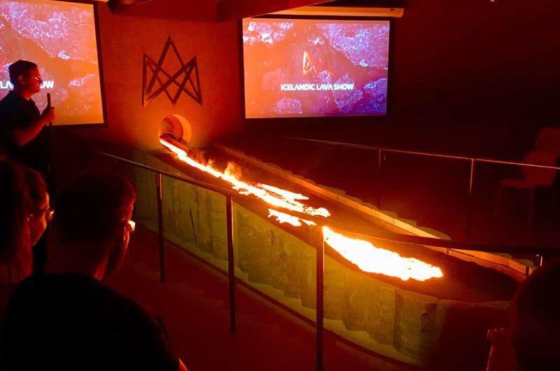 icelandic lava show demonstration