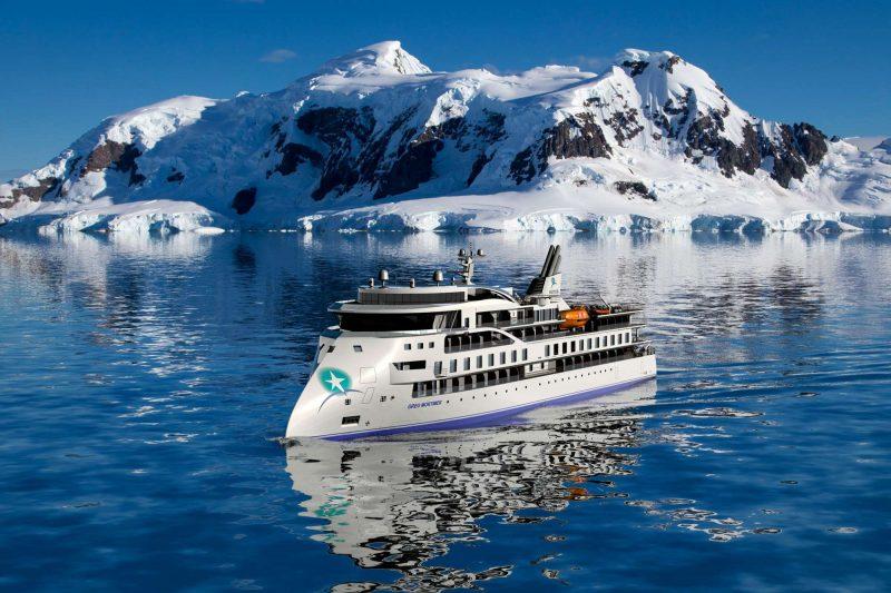 greg mortimer antarctica backdrop