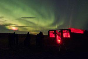 ranga observatory with aurora