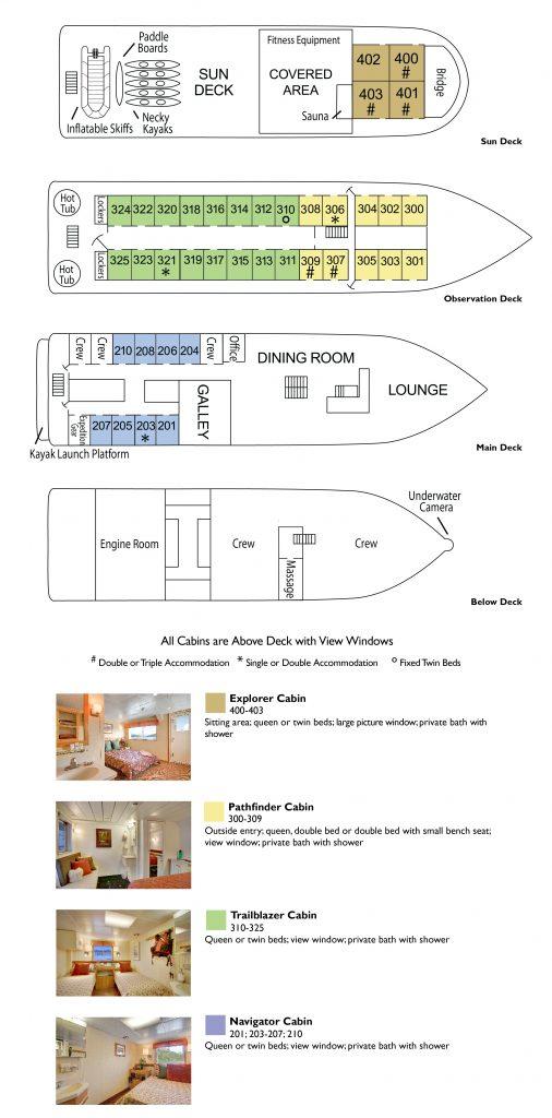 Wilderness Discoverer deck plan