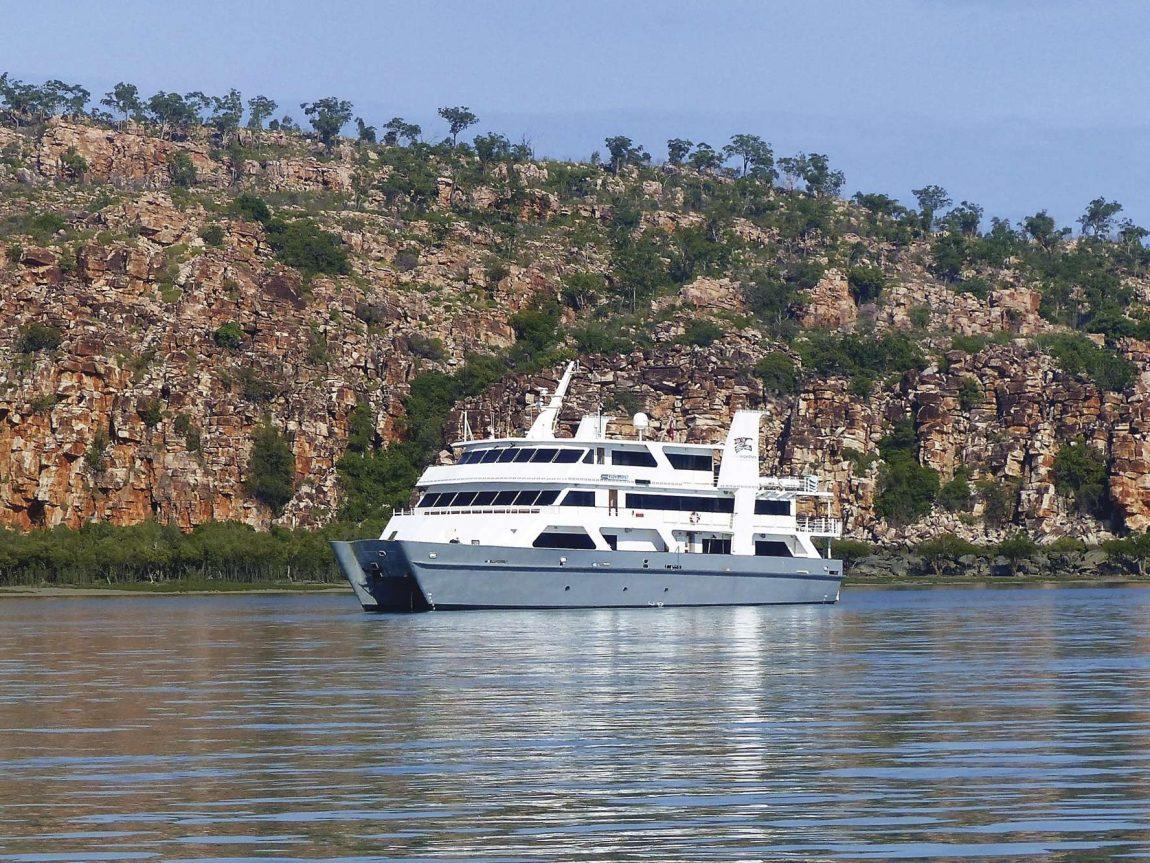coral expeditions I ship exterior at kimberleys