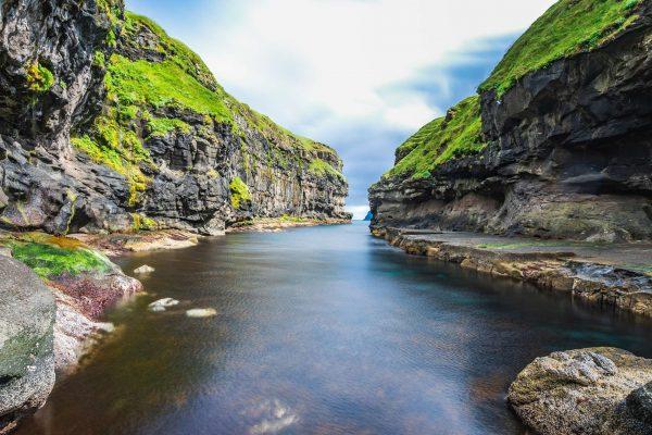 faroe islands eysturoy sea gorge gjogv istk