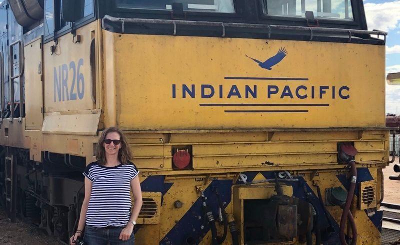 australia liz with indian pacific train liz 1