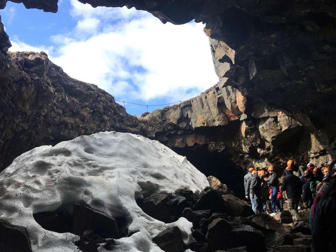 edu iceland team trip lava tunnel
