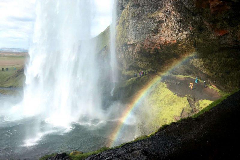 edu iceland team trip seljalandsfoss rainbow