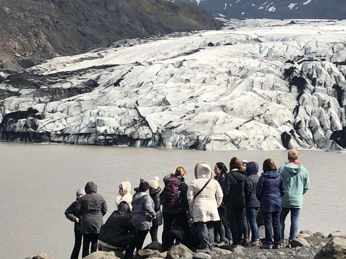 edu iceland team trip solheimajokull group candid