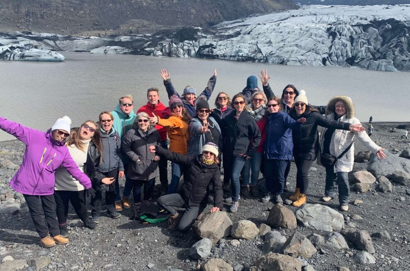 edu iceland team trip solheimajokull group silly