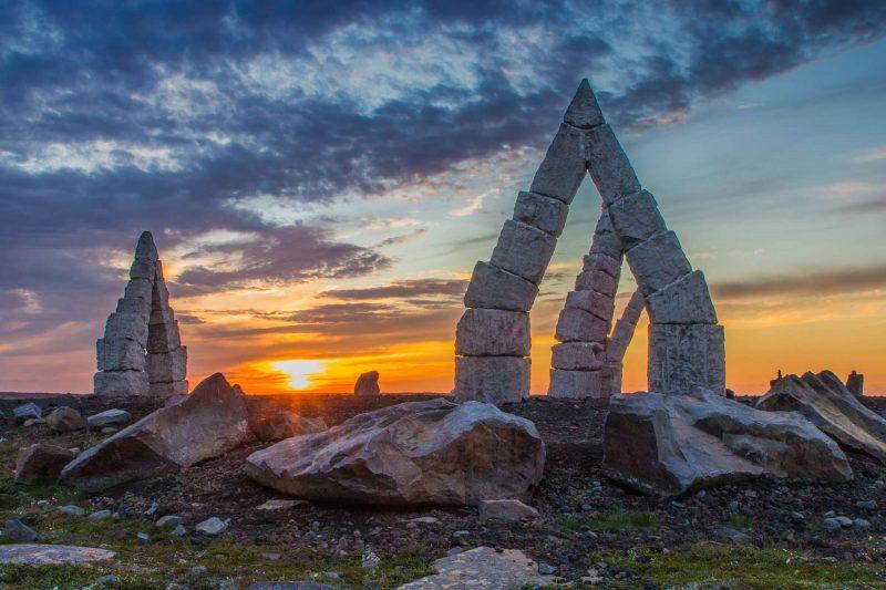 iceland north arctic henge sunset