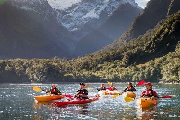 milford sound kayaking with views of pembroke glacier sthndisc