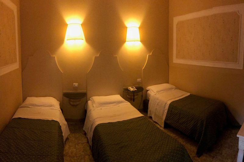 edu sicily hotel orange bedroom