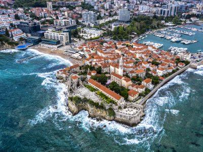 edu montenegro budva old town drone 2