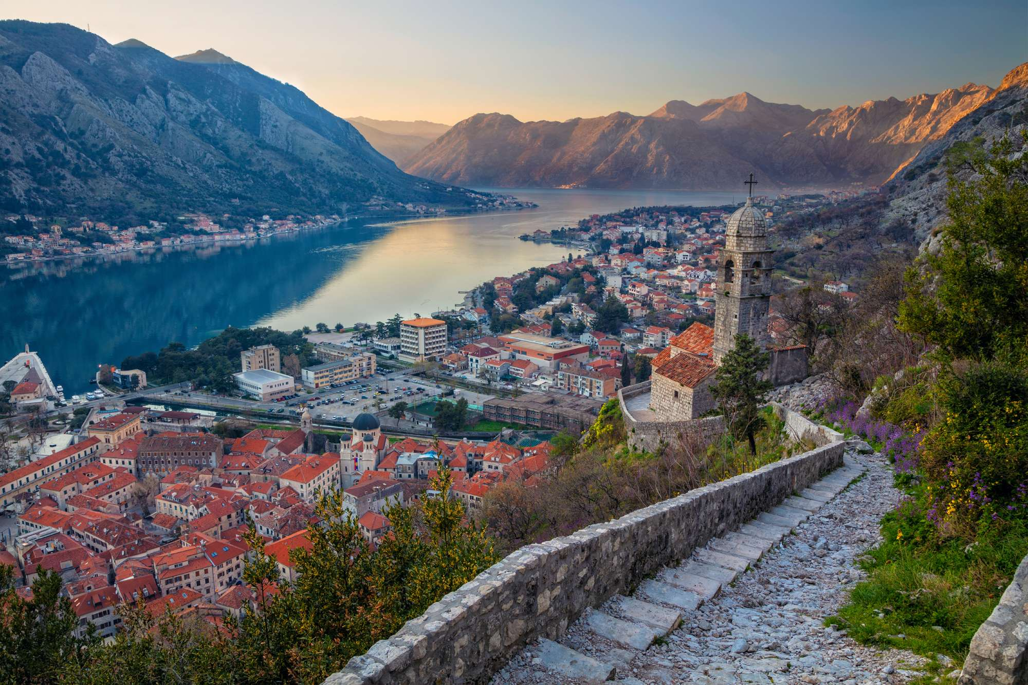 edu montenegro kotor city walls fjord view