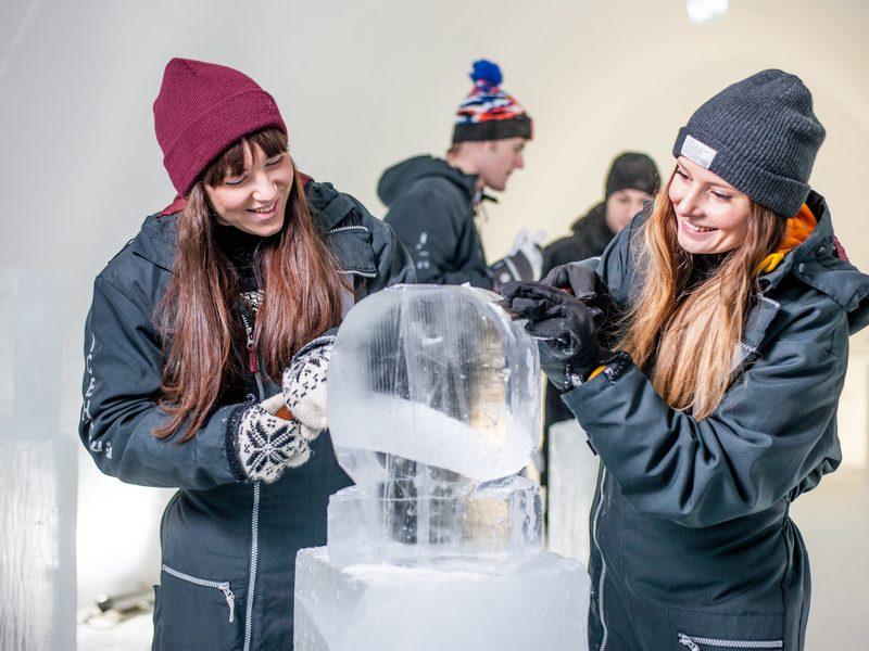 Ice sculpting hotel design