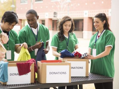 edu students fundraising clothes