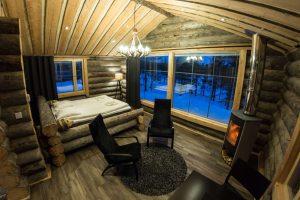 finland muotka panorama log cabin interior