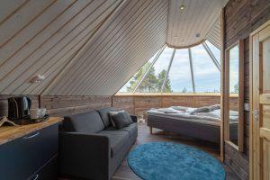 finnish lapland inari aurora cabin