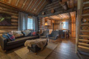 finnish lapland nellim peska log cabin