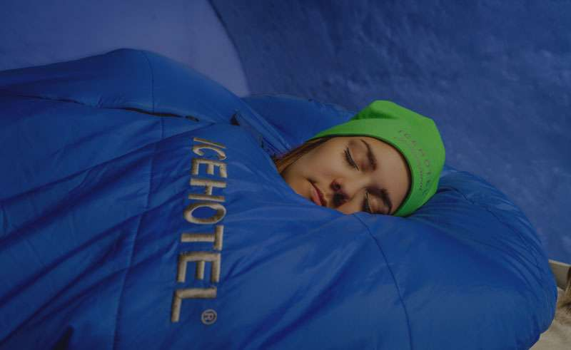 sleeping bags at the icehotel rth