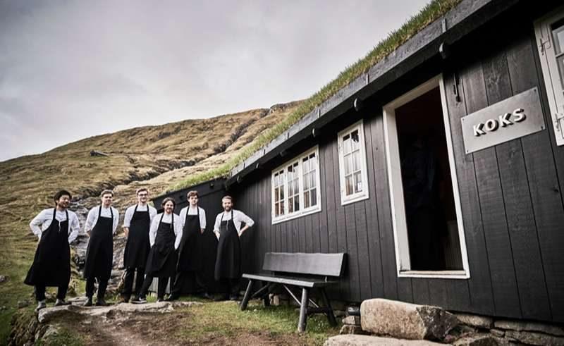 faroe islands streymoy koks restaurant team