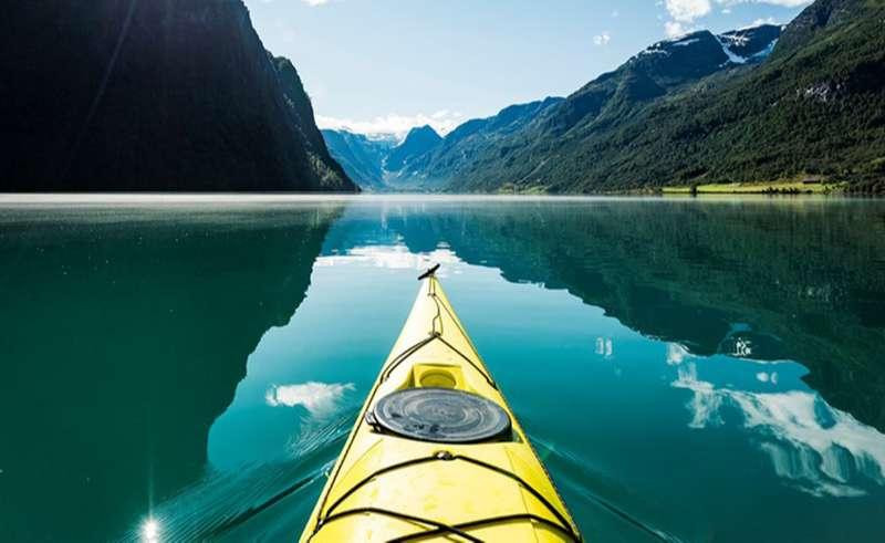 bergen gloppen hotel kayaking gloppen fjord