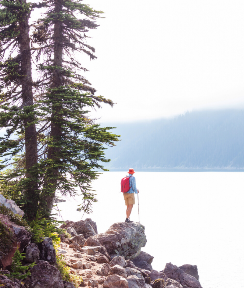 Man hiking in BC