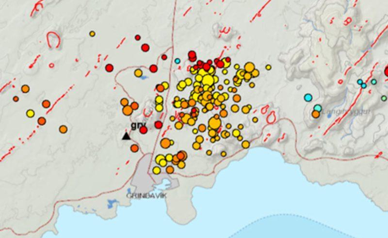 edu iceland earthquake swarm map