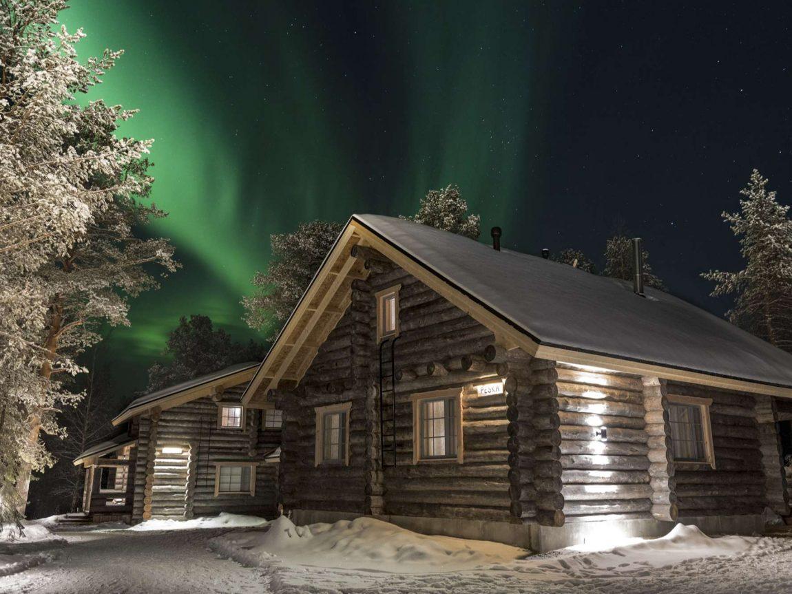 nellim wilderness hotel peska cabin northern lights