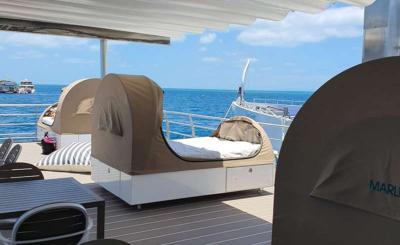 reefsleep pontoon deck swags whitsundays