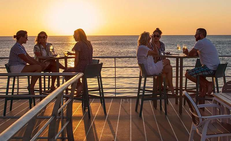 reefsleep relaxing at sunset whitsundays