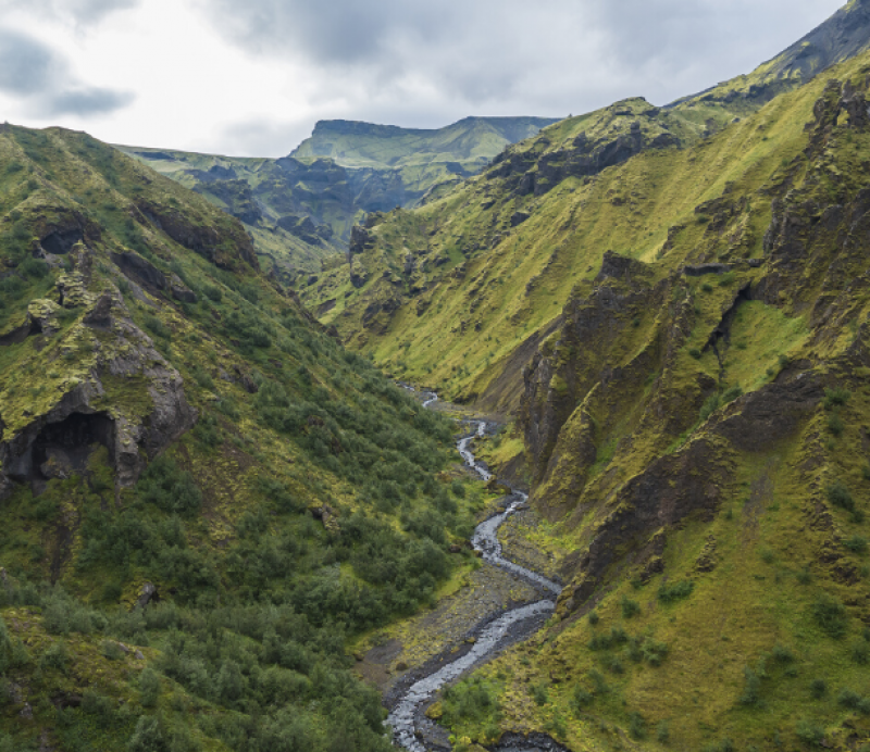 Valley in Iceland