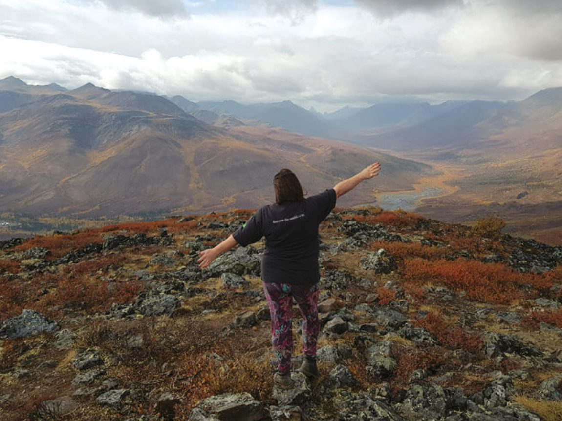 view over tombstone territorial park yukon canada ls